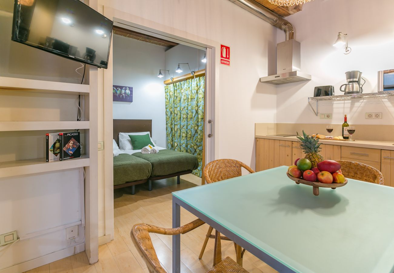interior view of 1 bedroom apartment 2 minutes from Barceloneta beach