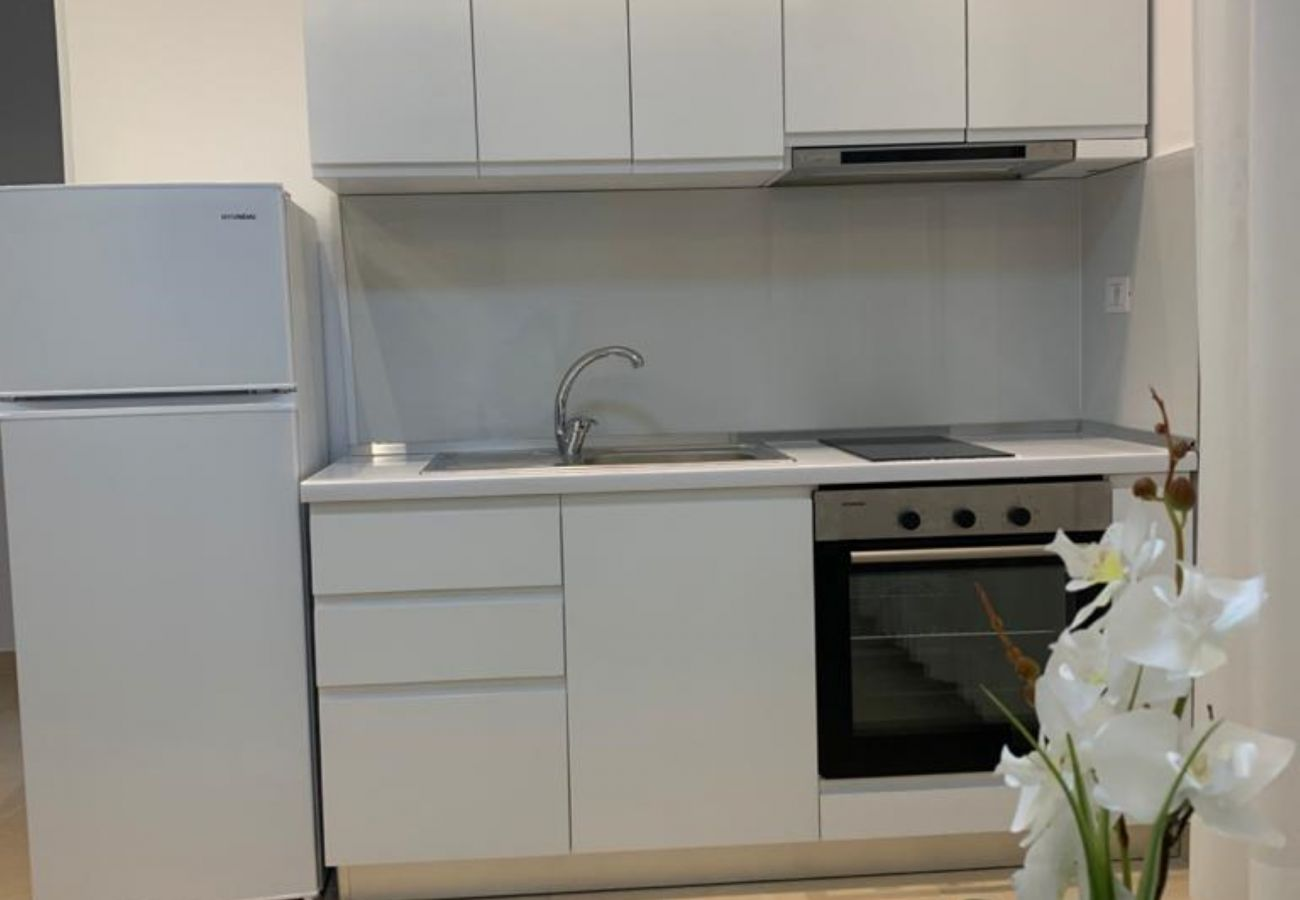 Fully equipped kitchen in one bedroom apartment in Vlora