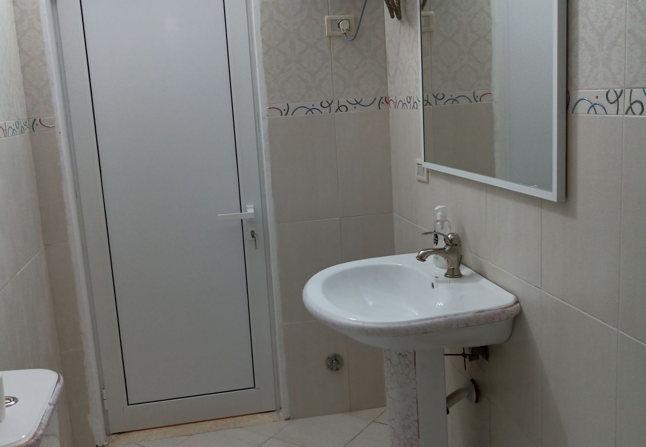 Bathroom sink in one bedroom apartment in Vlora